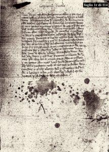 Un documento del 1359 su Corgnenta Vecchia, il castello che si ergeva tra Canepina e Soriano, in località Pian di San Pietro