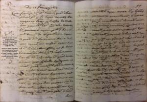 Il primo documento relativo alla famiglia Anguillara a Canepina