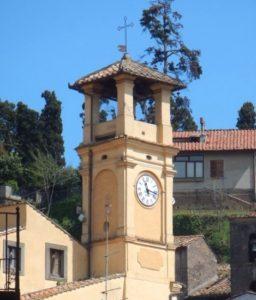La torre campanaria del Comune di Canepina
