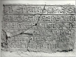 L'altra epigrafe della chiesa di sant'Angelo in Spatha